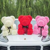 2019 Hot Sale 70cm Bear of Roses Artificial Flowers Home Wedding Festival DIY Cheap Wedding Decoration Gift Box Wreath Crafts