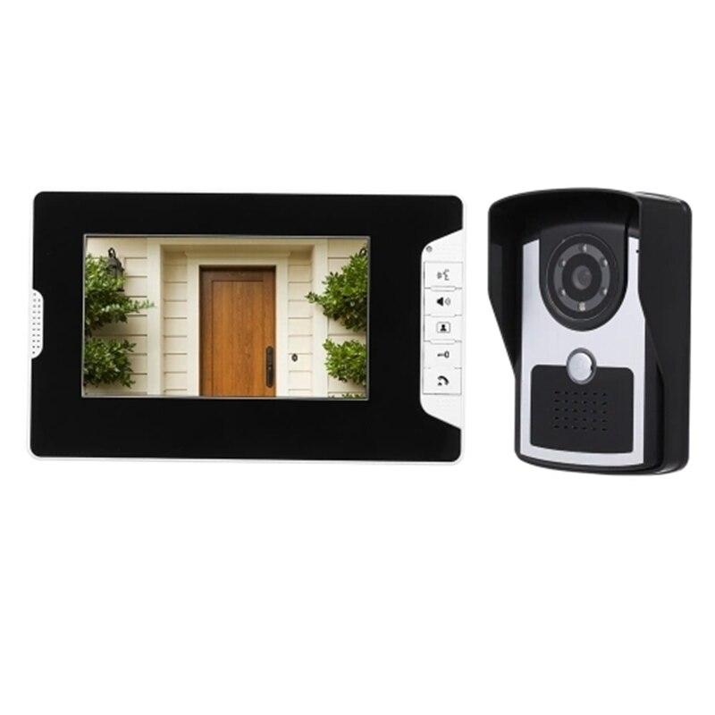 FFYY-7 Inch Monitor HD Camera Video Doorbell Intercom System IR Wired Doorbell Camera