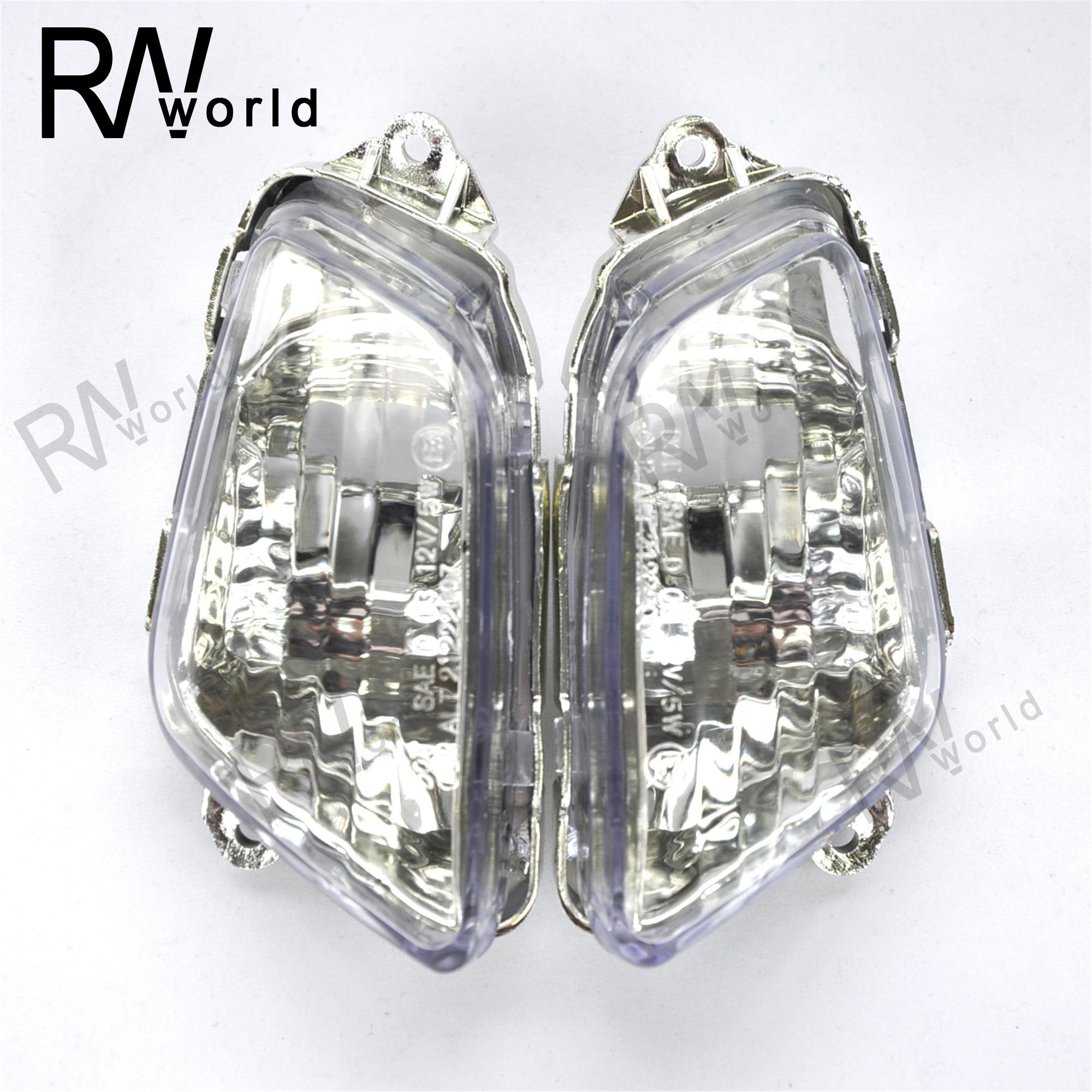 Motorcycle Front LED Turn Signal Lights Lens Covers For HONDA CBR1100XX CBR1100 XX CBR 1100XX 1997-2006 1998 00 01 02 03