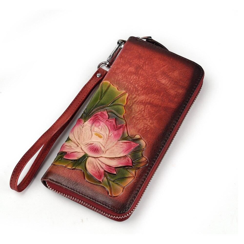 Fashion Clutch Full-Grain Leather Wallet