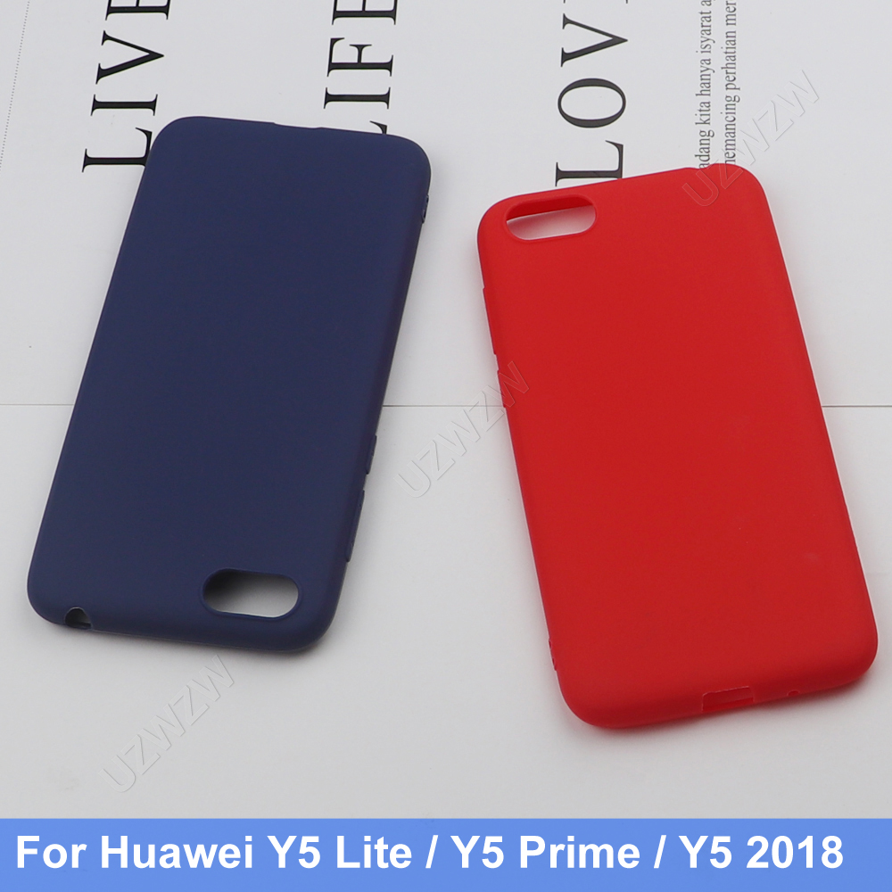 For Huawei Y5 2018 Y5 Prime / Y5 Lite 2018 Silicone TPU Soft Phone Matte Back Case Cover Coque Funda