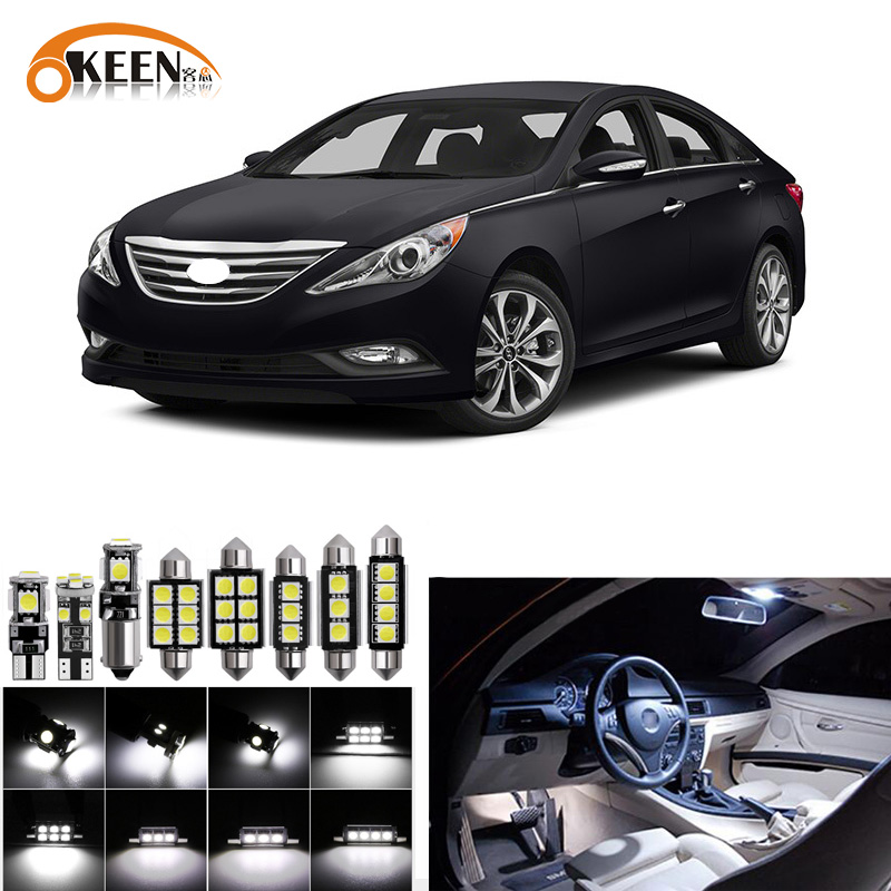 18PC White Interior SMD LED Lights Package Kit For 2005-2010 Honda Odyssey