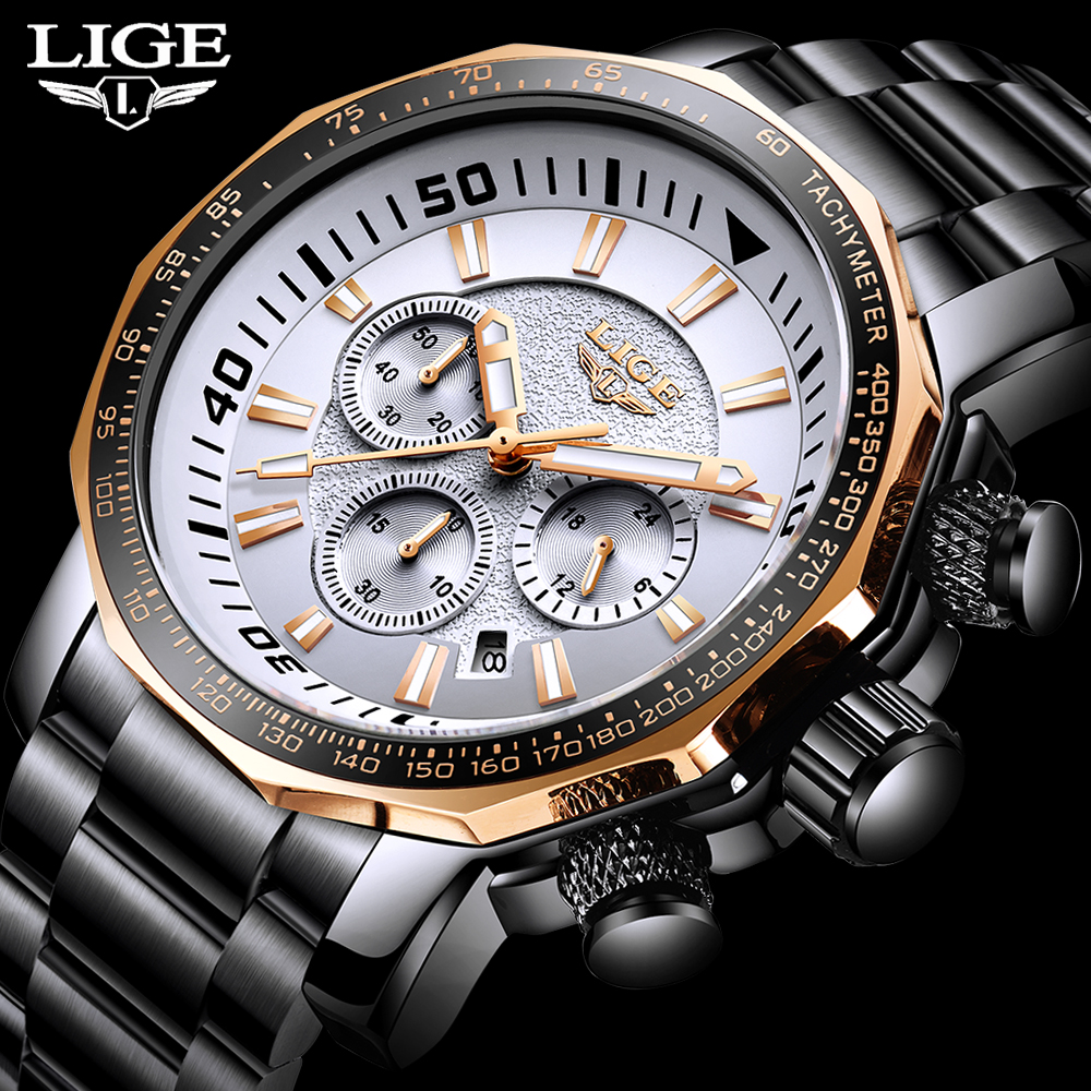 Relogio Masculino 2020 Watch Men LIGE Mens Watches Top Brand Luxury Sport Quartz Clock Male Military Waterproof Date Chronograph