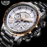 Relogio Masculino 2020 Watch Men LIGE Mens Watches Top Brand Luxury Sport Quartz Clock Male Military Waterproof Date Chronograph