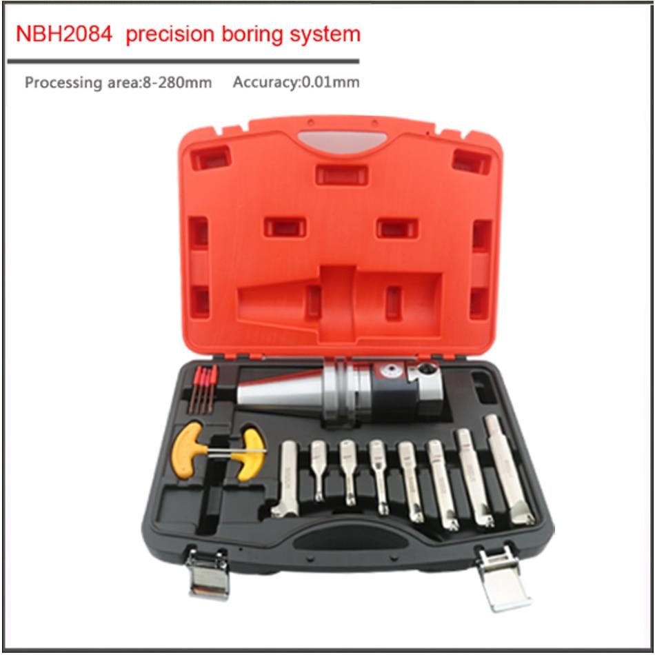 Купить с кэшбэком A SET BT40 BT50 NT40 MT4-NBH2084-8PCS 8-280mm precision boring system Adjustable single edged  boring cutter Hole cutting tool