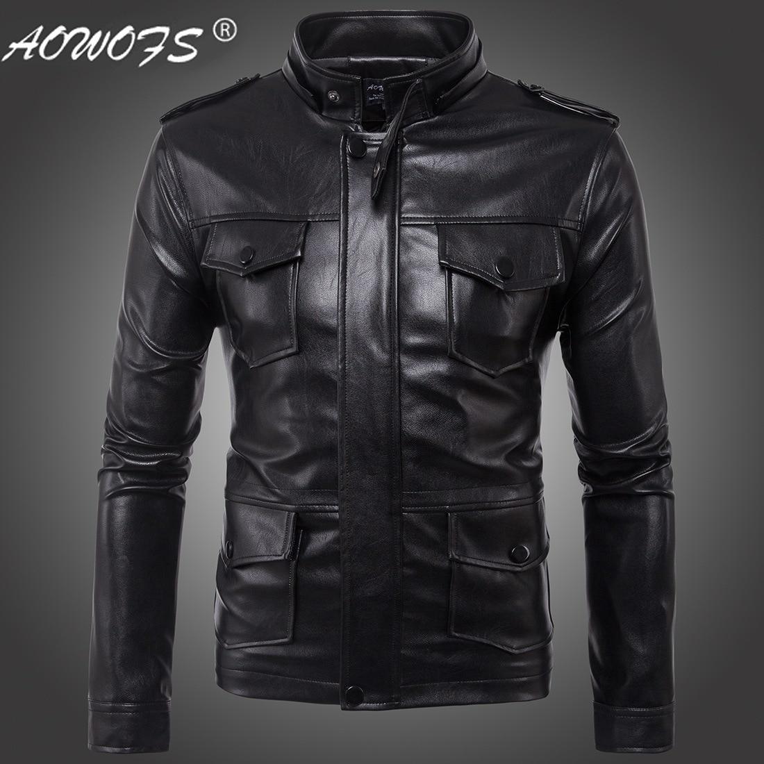 Ouma 2017 New Style Europe And America Men Hooded MEN'S Leather Jacket Leather Coat Ouma Coat B005