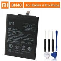 Batterie de remplacement d'origine BN40 pour Xiaomi Redmi 4 Pro Prime 3G RAM 32G ROM édition Redrice 4 Hongmi 4 batterie d'origine 4100mAh