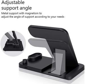 Image 5 - 4 in 1 Stand Fast Wireless Charger for Apple Pen Watch Series for iPhone X Xs Max Xr 8 Plus Airpods Charging Dock Station, Black