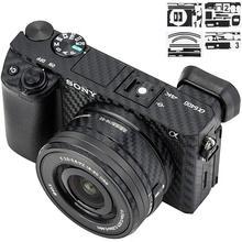 Корпус камеры и объектив из углеродного волокна пленка Комплект для Sony A6300 A6400 и 16-50 мм наклейки для объектива для украшения камеры s