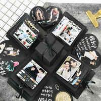 Caja de regalo sorpresa del amor de la fiesta para álbum de recortes de aniversario álbum de fotos DIY cumpleaños navidad regalo del Día de San Valentín