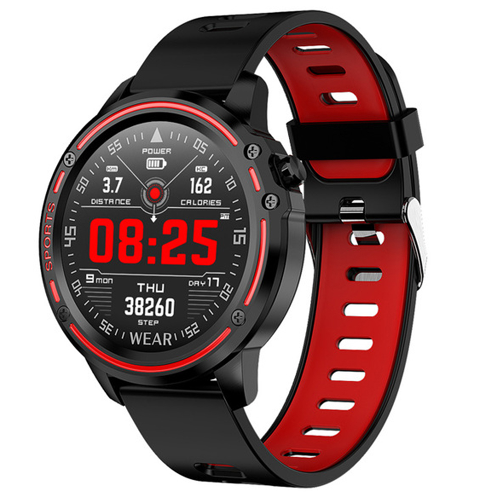 L8 Smart Watch Men Fitness Tracker Heart Rate Blood Pressure Monitoring Smart Bracelet Ip68 Waterproof Sports Smartwatch image