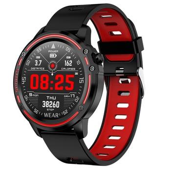 L8 Smart Watch Men Fitness Tracker Heart Rate Blood Pressure Monitoring Smart Bracelet Ip68 Waterproof Sports Smartwatch
