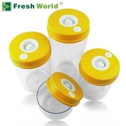 حاويات المطبخ الغذاء فراغ مجموعات الطازجة حفظ علبة (2200 مللي + 1600 مللي + 1000 مللي + 700 مللي + مللي ، مضخة فراغ كهربائية onsale)