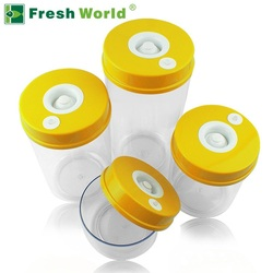 Kitchen Food Vacuum Containers Sets Fresh Keeping Canister ( 2200ML+1600ML+1000ML+700ML, Electric Vacuum Pump onsale )