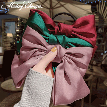 Large Bow Chiffon Hairpin Ribbon Hairgrips For Women Girls Satin Trendy Lady Hair Clip Ponytail Clips Barrettes Accessories - discount item  29% OFF Headwear