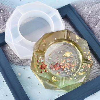 DIY Molde de resina de Cenicero hecho a mano Cenicero UV moldes de silicona y epoxi decoración del hogar manualidades fabricación de joyas herramientas