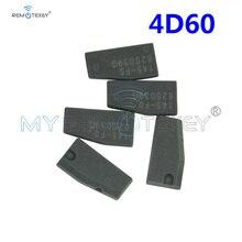 Remtekey 5 pcs Transponder Key remote key chip blank for Ford 4D60 chip transponder virgin carbon free shipping transponder key blank hu46 blade for tpx chip for opel 10piece lot