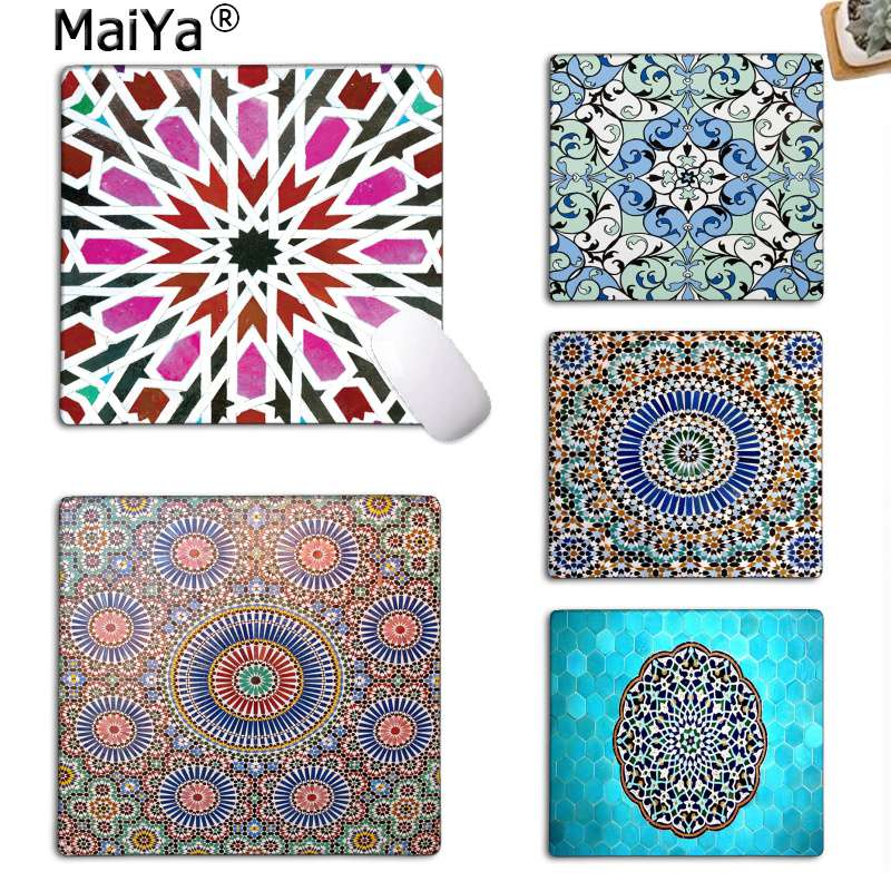 MaiYaCa New Design Colorful Moroccan Mosaic By Micklyn Small Mouse Pad PC Computer Mat Top Selling Wholesale Gaming Pad Mouse