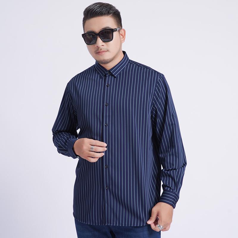 8xl 7xl 6xl 5xl 2020 New Youth Plus Size Large Men Turndown Collar Long Sleeve Dress Striped Shirts With Male Tops Fashion