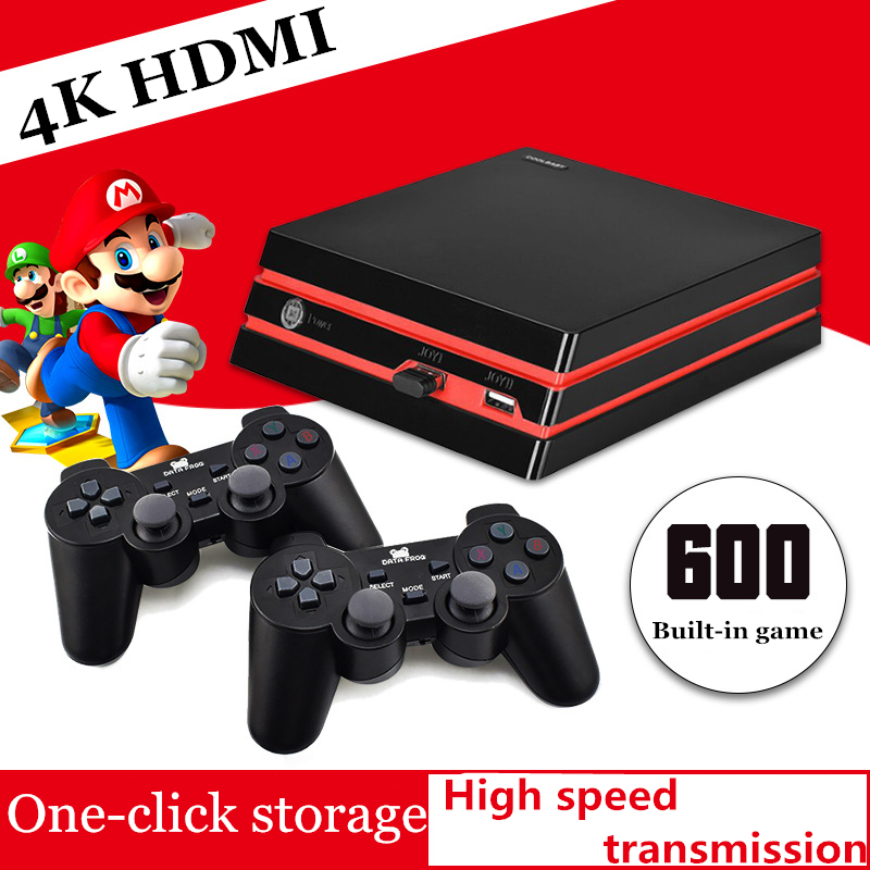 Retro Video Game Console For GBA/SNES Arcade Game HDMI Game Box Built-In 600 Games With Wireless Controller Gaming System