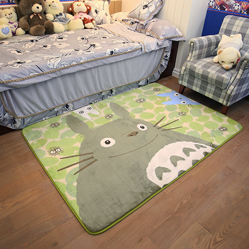 5 Styles Living Room Bedroom Rug Cute Totoro Cat Printed Baby Play Mats Floor Carpet Mat Kid's Toddler Climb Blanket Decoration