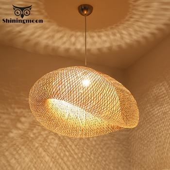 цена Chinese Classical Bamboo Lamp Pendant Light Lighting Modern Restaurant Hotel Rattan Pendant Lights for Living Room Hanging Lamp онлайн в 2017 году