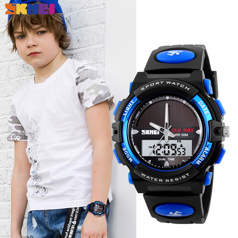 SKMEI Shockproof Kids Watches Fashion Sport Digital Children Wristwatches High Elastic PU Protection Comformation Boy Watch 1587