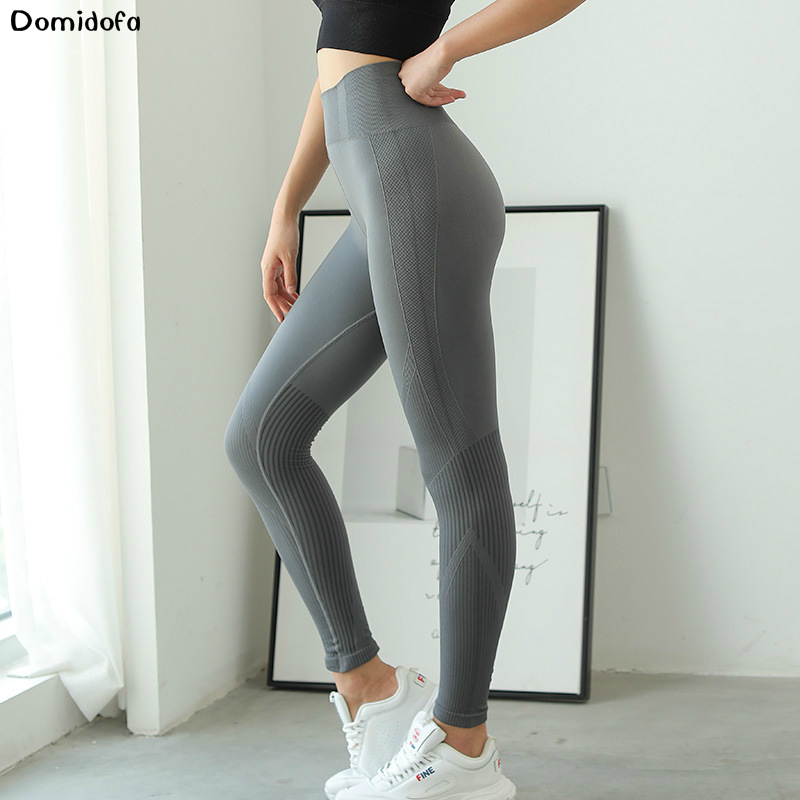 2019 sexy tight fitting sports quick drying pants hip high waist yoga pants woman peach hip sweatpants running fitness tights in Yoga Pants from Sports Entertainment