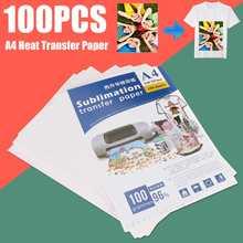 Sublimation-Paper Inkjet-Printer 100-Sheets Shirts A4 for EPSON HP Cap Mug-Cup Hat Light-Color