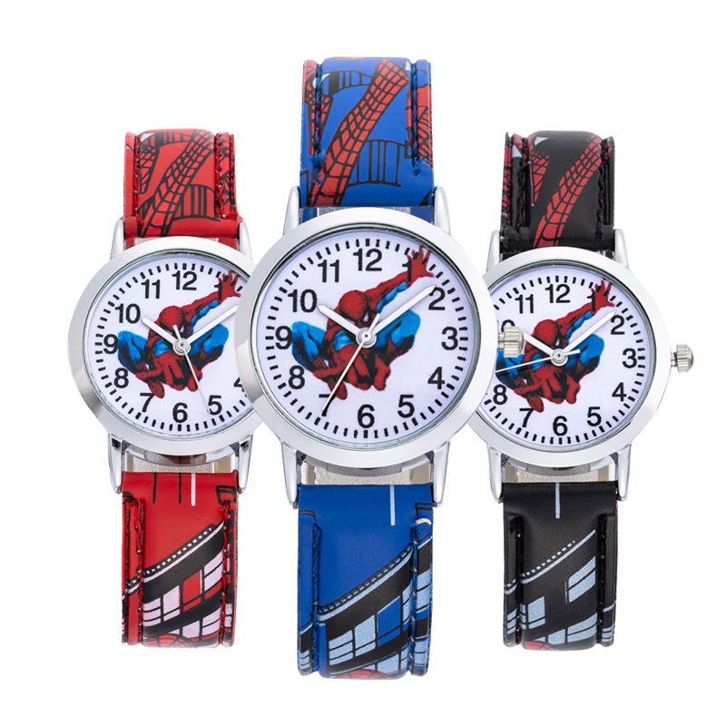 Kids Watches SpiderMan Watch Cute Cartoon Watch  Rubber Quartz Watch Gift Children Hour Reloj Montre Relogio Relogio Infantil