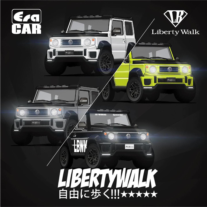 Era Car 1:64 LB Works Liberty Walk Suzuki G Mini Jimny Diecast Model Car