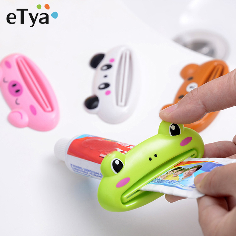 ETya Multifunction Cartoon Cosmetic Toothpaste Extruder 2pcs Portable Travel Accessories Unisex Organizer Tools Wash Accessories