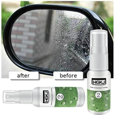 HGKJ-2-20ml Waterproof Rainproof Anti-fog Agent Glass Hydrophobic nano Coating spray For Car Window Glass Car Accessories TSLM1 Karachi