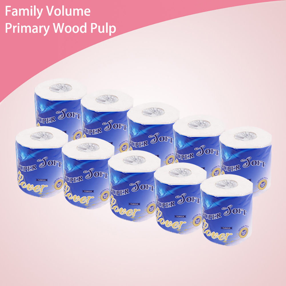 10 Rolls Of 3 Layers Soft Toilet Paper Durable Tough Paper Towel Thickened Bathroom Kitchen Household Cleaning Paper