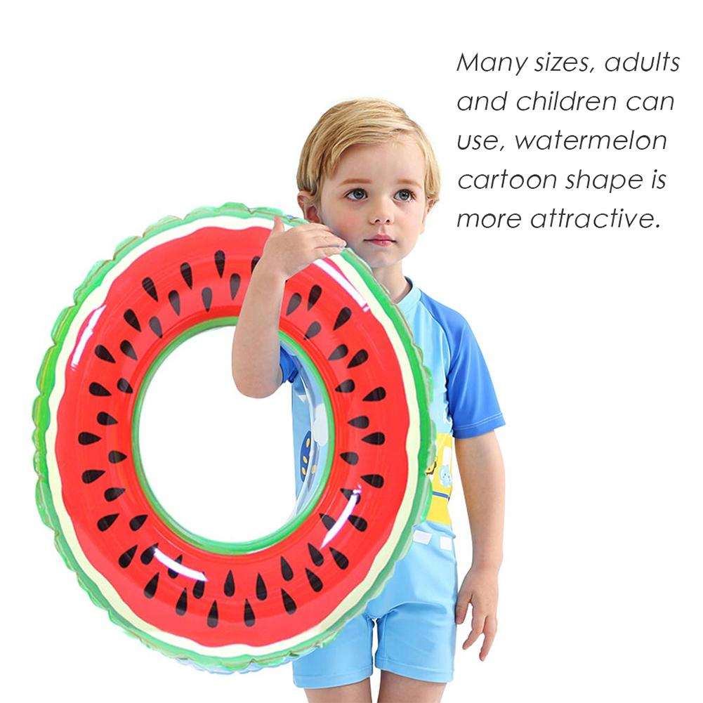 Portable Summer Baby Kids Cartoon Safety Watermelon Swimming Ring Outdoor Inflatable Pool Float Circle For Adult Kid Water Toys