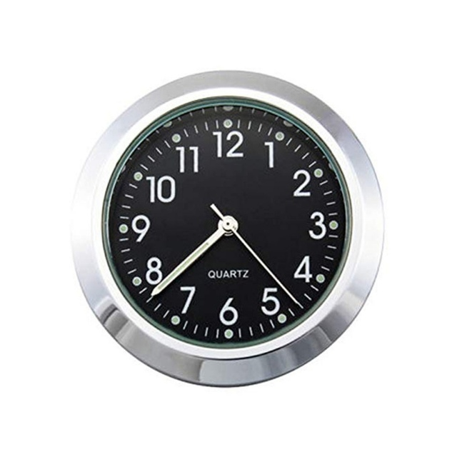 """Universal Waterproof 7/8 """"Motorcycle Handlebar Black/White Dial Clock Thermometer Motorcycles Accessories 4"""
