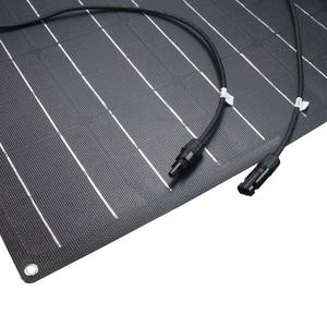 Image 3 - 1pcs 2pcs ETFE גמיש פנל סולארי 60w פנל סולארי 12v מטען סולארי עם etfe משטח ציפוי חצי גמיש שמש פנלים