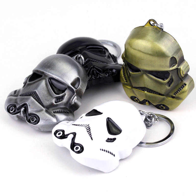 ZRM Star Wars Darth Vader หน้ากากพวงกุญแจ StormTrooper หมวกกันน็อก Storm Trooper พวงกุญแจ Chaveiro Superhero พวงกุญแจของขวัญ