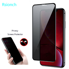 Rsionch 9D Tempered Glass for New iPhone 6.5 inch 11 Pro Max 6.1 5.8 X XR XS MAX 9H Privacy Anti Peeping Screen Protector Apples 6 7 8 Plus 5 5s