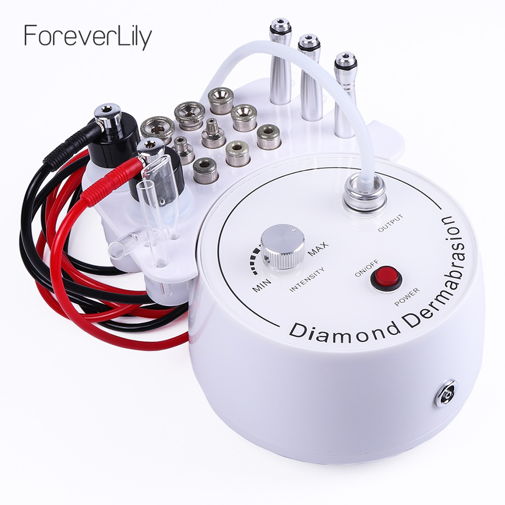 3 In 1 Diamond Microdermabrasion Dermabrasion Machine Water Spray Exfoliation Beauty Machine Wrinkle Facial Peeling Device