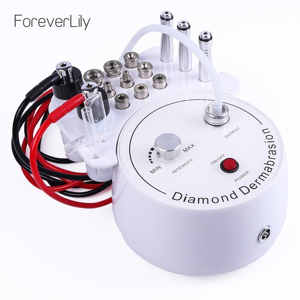 3 en 1 diamant Microdermabrasion Dermabrasion Machine eau pulvérisation Exfoliation beauté Machine rides visage Peeling dispositif