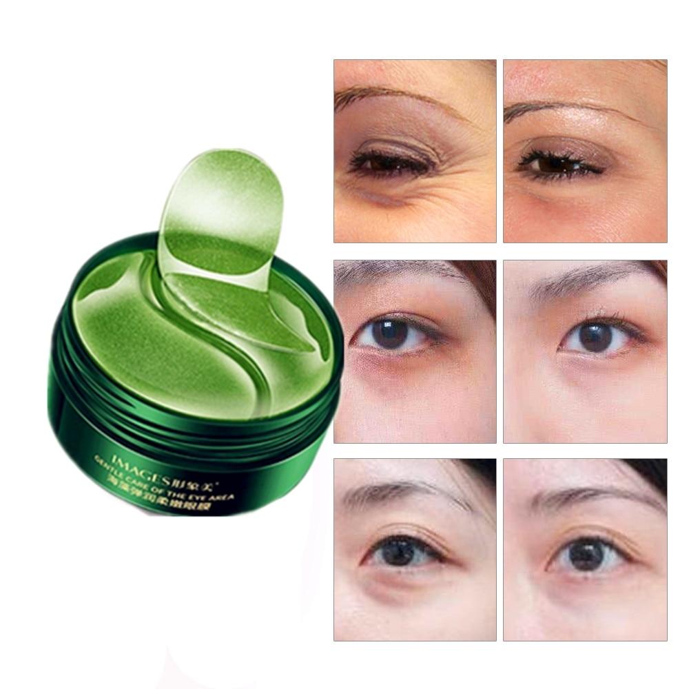 Skin Care Green Tea Eye Cream Whitening Moisturizing Hydrating Seaweed Anti Wrinkle Remove Fine Lines Dark Circles Eye Masks