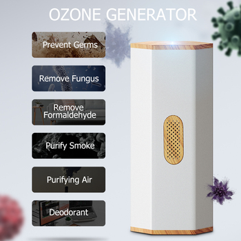 GX·Diffuser Portable Ozone Generator Deodorizer Clean Air Disinfect Clothing Ozonator Mini Ozone Car Air Purifier Kills Germs gx diffuser portable ozone generator usb rechargeable battery ozone air purifier mini odor sterilizer air ozonator for car home