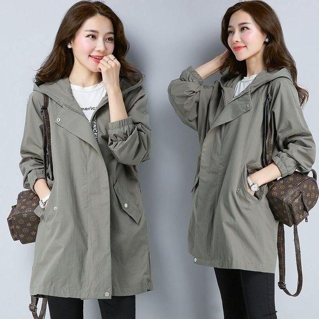2020 Women Trench Casual loose Trench Coat oversize Vintage Cloak female Overcoats Windbreaker plus Size 4XL 5XL 1