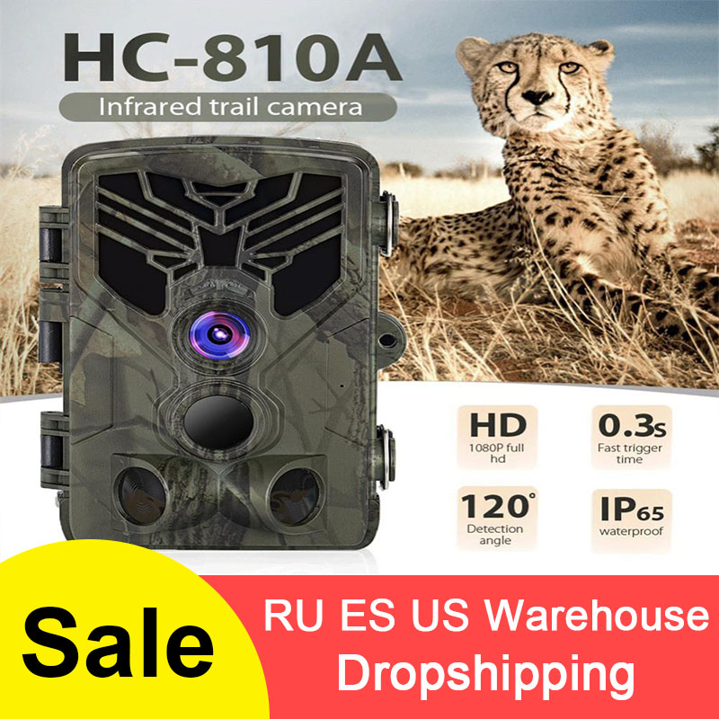 HC-810A Outdoor Trail Hunting Camera Scouting Camera 1080P 16MP HD PIR Motion Night Vision Camera image