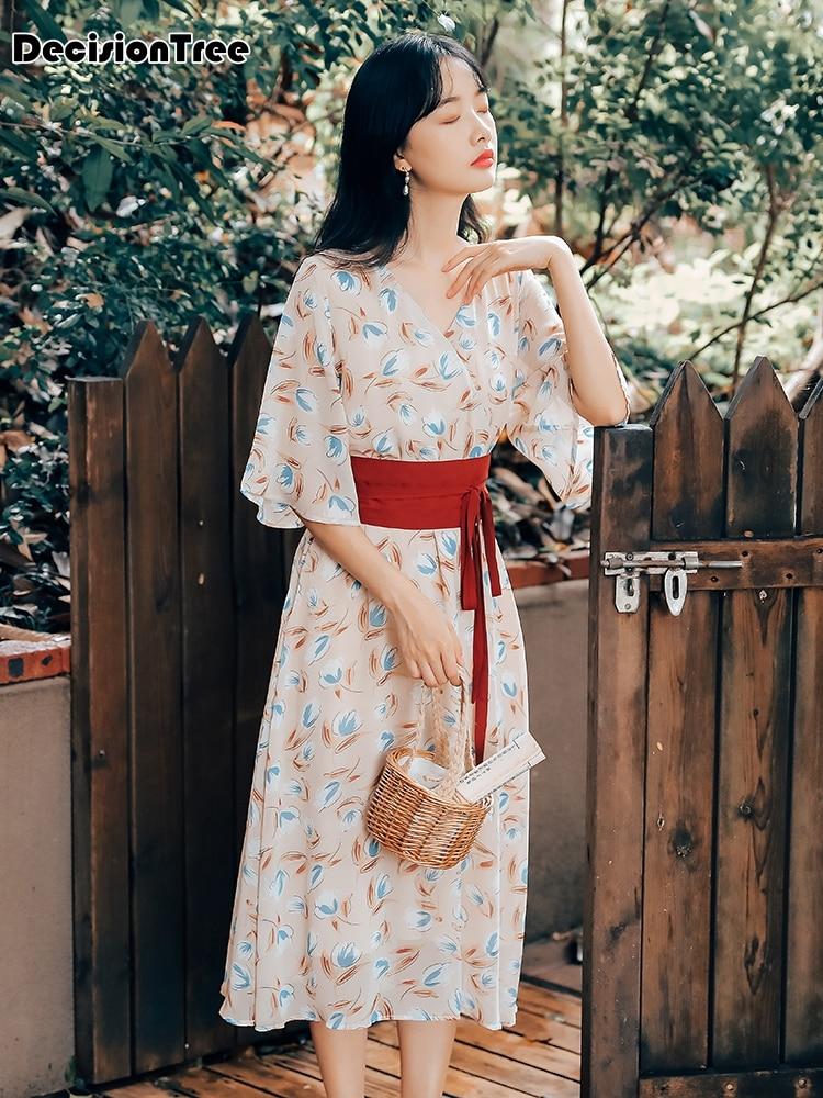 2019 Kimono Japanese Kimono Mujer Yukata Japan Kimono Dress Kimono Dress Kimono Feminino Japanese Style Kimono Women