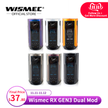[Russian/USA/France]Wismec Reuleaux RX GEN3 Dual Mod Box Max Output 230W VW/TC-Ni/TC-Ti/TC-SS/TCR El