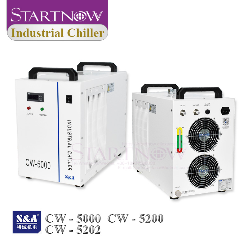 S&A Industrial Water Chiller CW-5200 CW-5000 For CNC Spindle 80W 100W 150W CO2 Laser Machine Laser Tube Cooling CW5200 CW5000