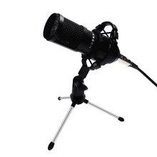 Bm800 professionnel condensateur son Kit de micro 5 pièces/ensemble Bm 800 karaoké Microphone de bureau micro fil avec support anti choc araignée
