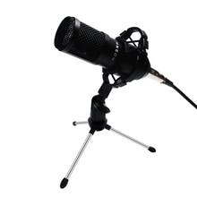 Bm800 profesyonel kondenser ses mikrofon seti 5 adet/takım Bm 800 Karaoke masaüstü mikrofon mikrofon tel şok dağı örümcek